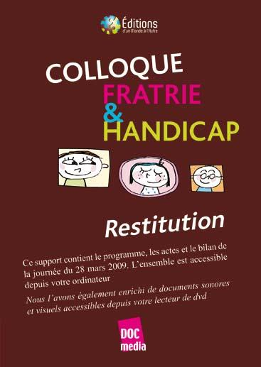 Restitution du colloque Fratrie & Handicap